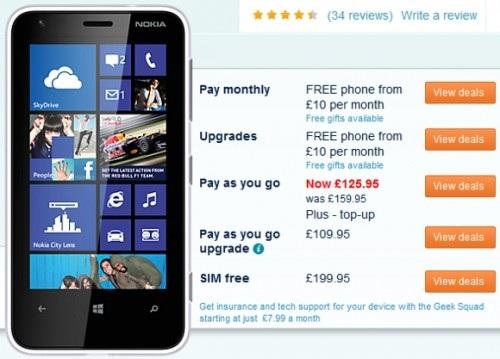 Nokia Lumia 620 подешевел в Великобритании